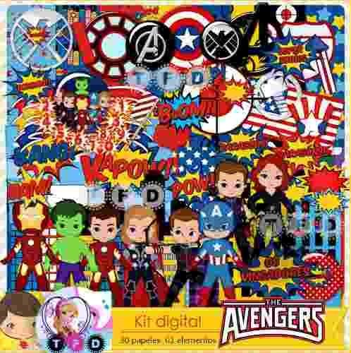 kit imprimible avengers vengadores marvel pack scrapbook