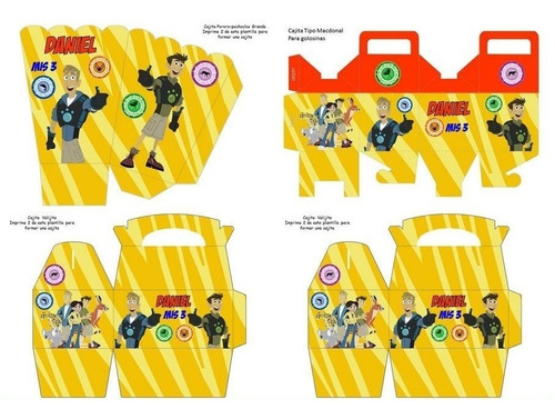 kit imprimible aventuras con los hermanos kratt fiesta 3x1