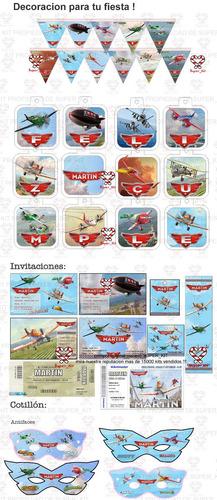 kit imprimible aviones disney promo 2x1 completo