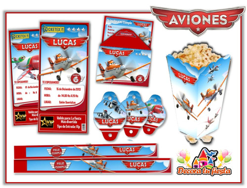 kit imprimible aviones disney súper candy bar cotillón!
