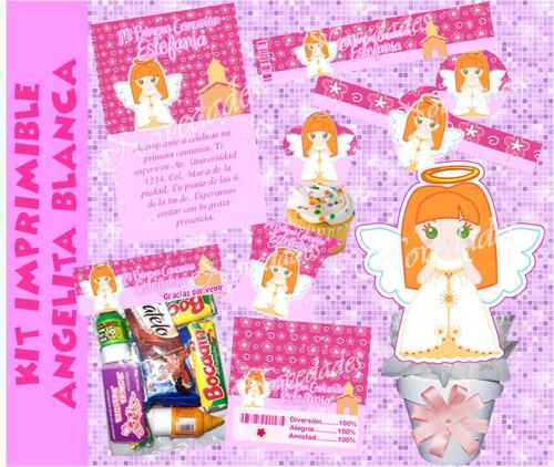 kit imprimible baby angelita 1 primera comunión  bautizo