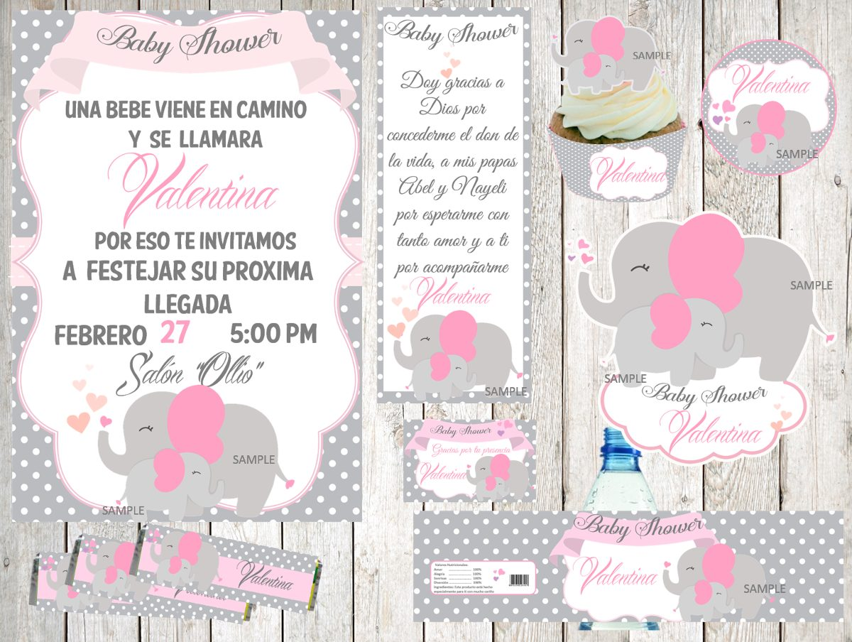 kit imprimible baby shower en mercado libre. Black Bedroom Furniture Sets. Home Design Ideas