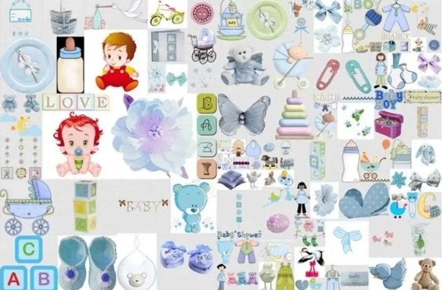 Kit Imprimible Baby Shower Boy Niño Fiesta 3x1 - $ 9.000 en Mercado ...