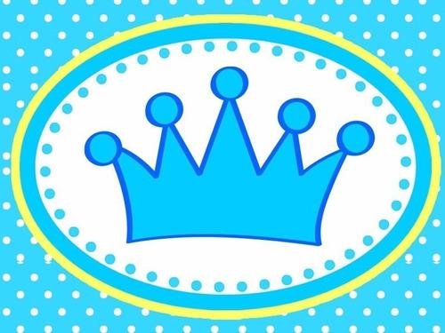 kit imprimible baby shower coronita niño
