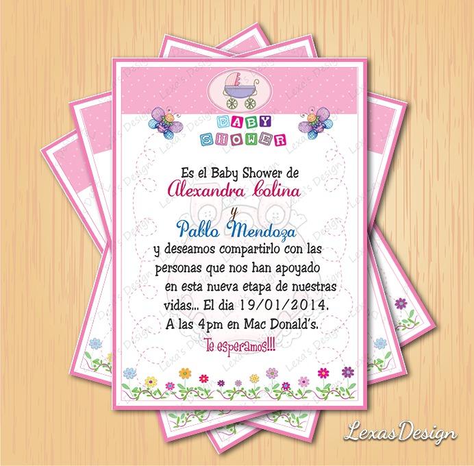 Kit Imprimible Baby Shower Flores + Candy Bar - $ 130.00 en Mercado ...