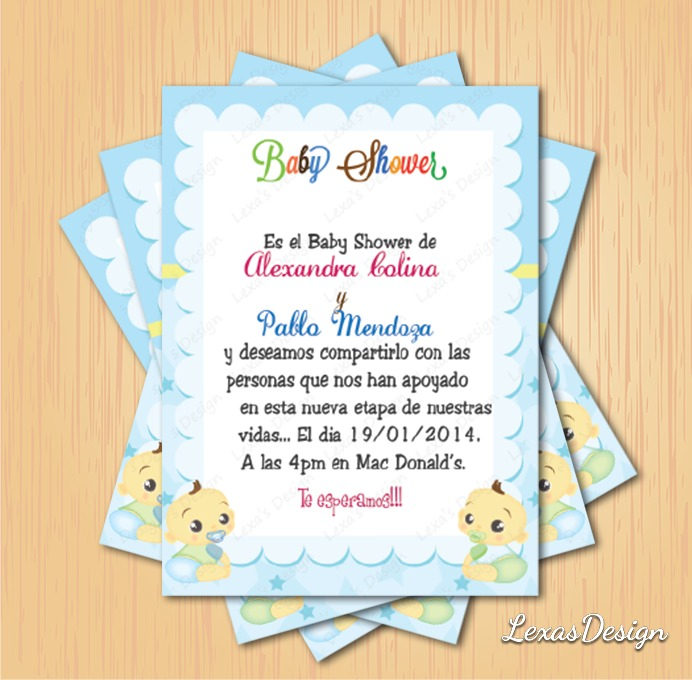 Kit Imprimible Baby Shower Gemelos + Candy Bar Personalizado ...