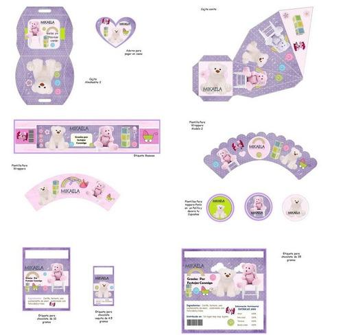 kit imprimible baby shower girl niña para decorar fiesta