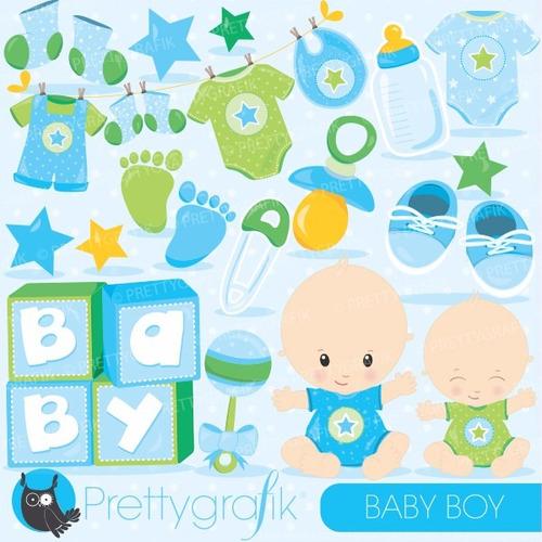 kit imprimible baby shower imagenes clipart cod523