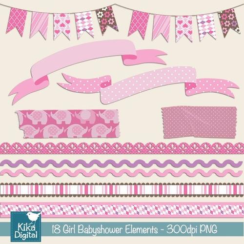kit imprimible baby shower imagenes clipart cod529