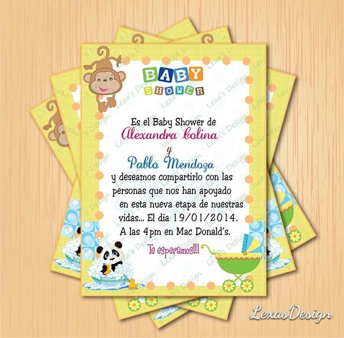 Kit Imprimible Baby Shower Zoo Safari + Candy Bar Perso. - $ 130.00 ...