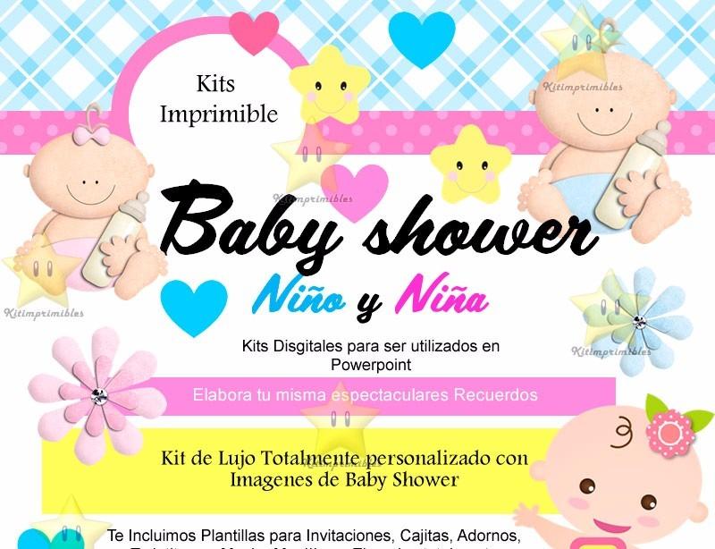 Kit Imprimible Baby Showerinvitacionfiestadiseño 7000 En