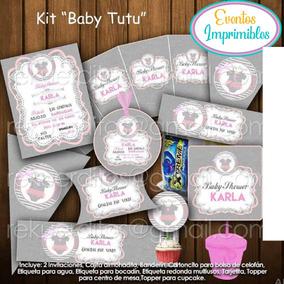 Decoracion Baby Shower Nina De Princesa.Kit Imprimible Baby Tutu Bailarina Baby Shower Decoracion