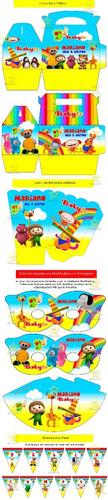 kit imprimible baby tv diseña tarjetas cumples y mas