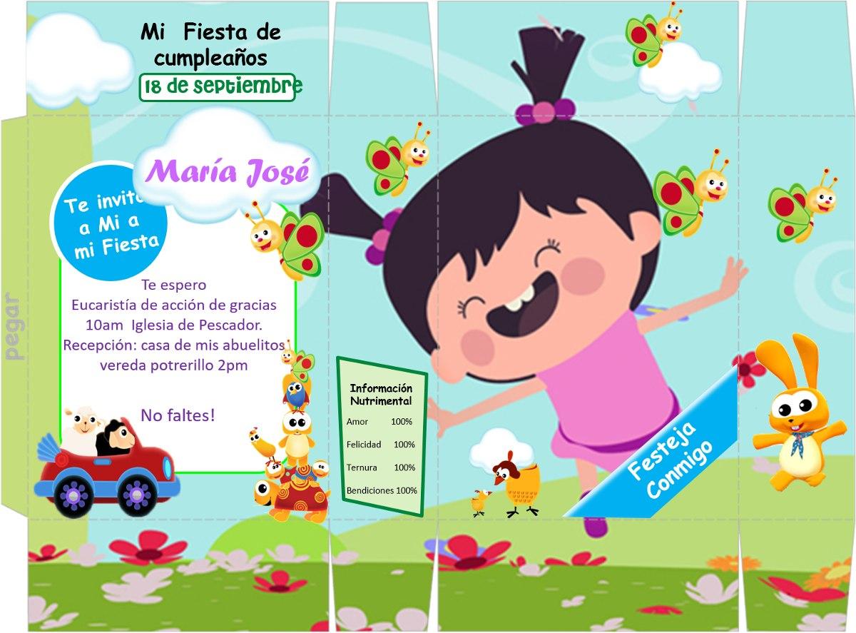 Kit Imprimible Baby Tv Lola Y Sus Amigos Tarjetas Invitacion ...