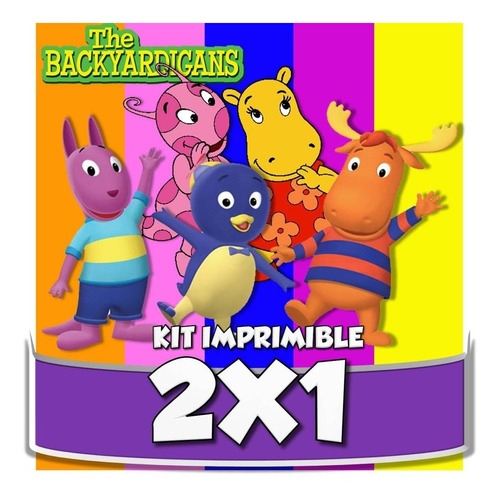 kit imprimible backyardigans cotillón envio inmediato 2x1