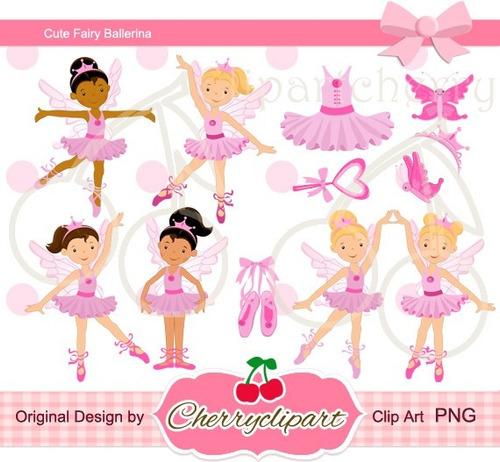 kit imprimible bailarinas imagenes clipart cod 16