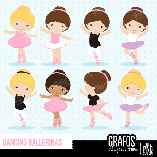 kit imprimible bailarinas imagenes clipart cod 24