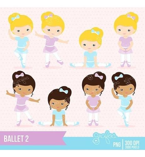 kit imprimible bailarinas imagenes clipart cod 3