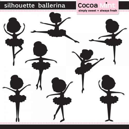 kit imprimible bailarinas imagenes clipart cod51