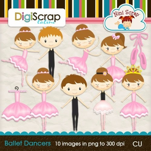 kit imprimible bailarinas imagenes clipart cod565
