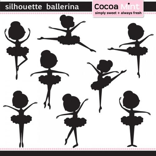 kit imprimible bailarinas imagenes clipart cod586
