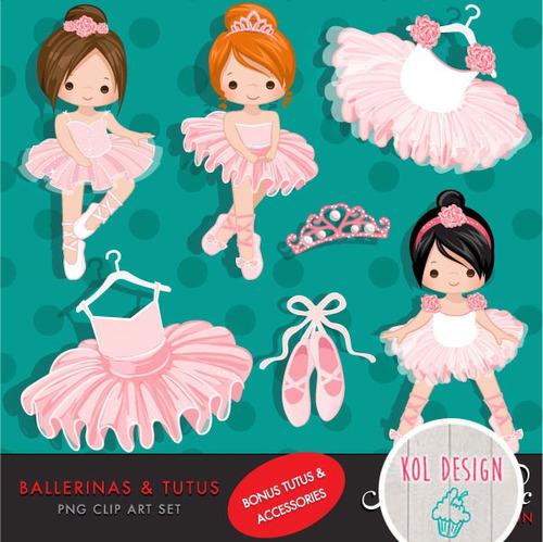 kit imprimible bailarinas y tutus imagenes clipart c14