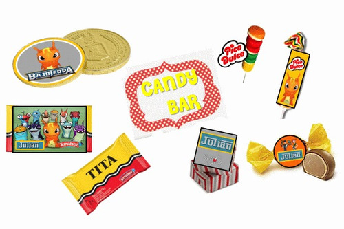 kit imprimible bajoterra: invitaciones, candy, deco, torta