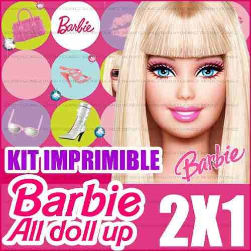 kit imprimible barbie all doll up 2x1