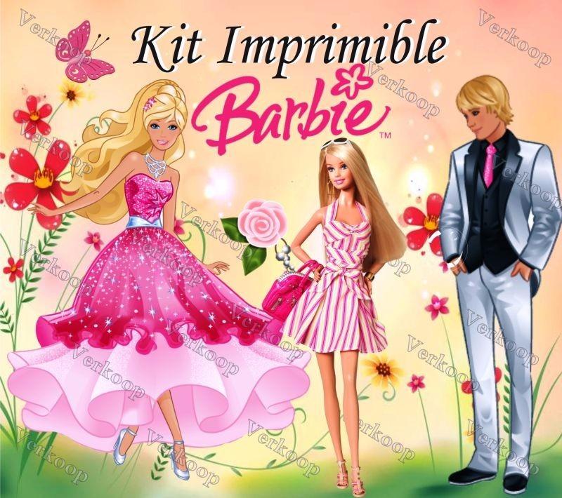 Kit Imprimible Barbie Carteles Invitaciones Tarjetas Marcos - U$S 12 ...