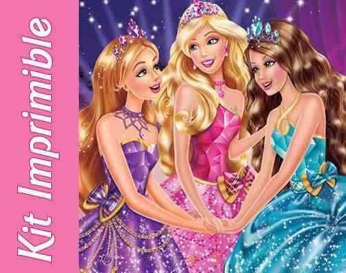 kit imprimible barbie escuela de princesas invitaciones mas6