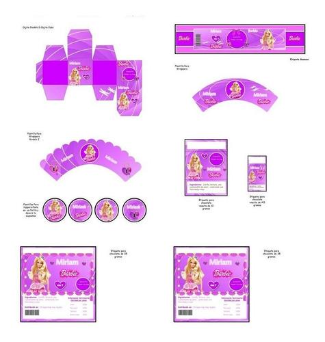 kit imprimible barbie fiesta 3x1