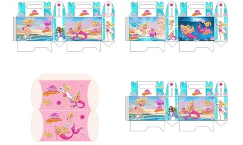 kit imprimible barbie sirena fiesta 3x1