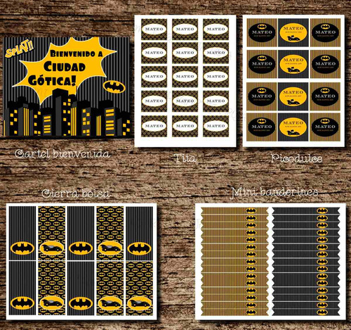 kit imprimible batman - cumple superheroe