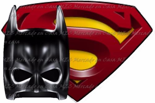 kit imprimible batman vs superman edicion tarjeta cumpleaño