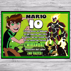 Kit Imprimible Ben 10 Invitaciones Golosinas Editable