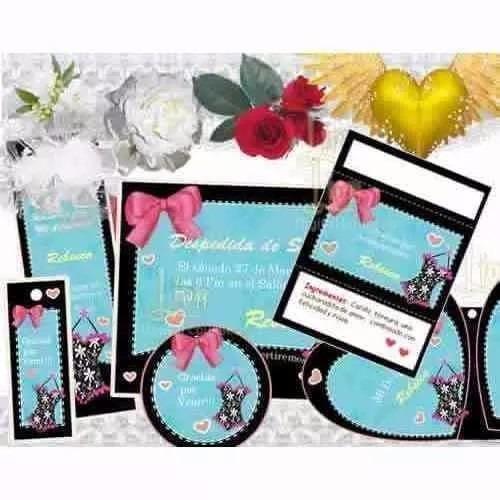 kit imprimible bodas y despedida de soltera recuerdo y mas