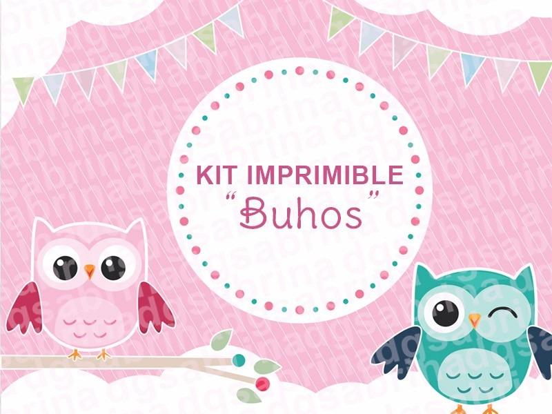 Kit Imprimible Buhos, Shabby Chic, Bautismo, Lechuzas, Candy - $ 70 ...