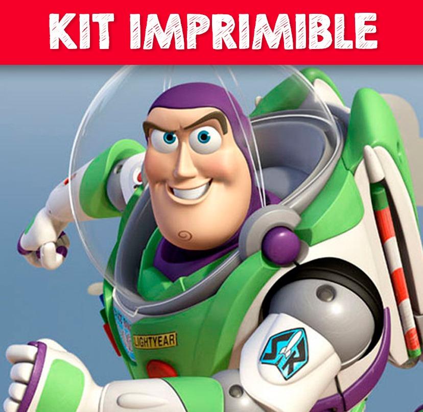 Kit Imprimible Buzz Lightyear Invitaciones Etiquetas