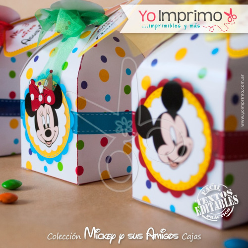 kit imprimible caja la casa de mickey minnie pluto goofy
