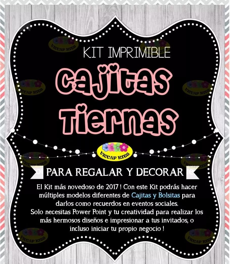 Kit Imprimible Cajitas Tiernas, Patrones, Fondos, Plantillas ...