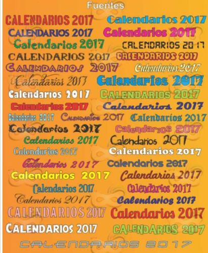 kit imprimible calendario 2017
