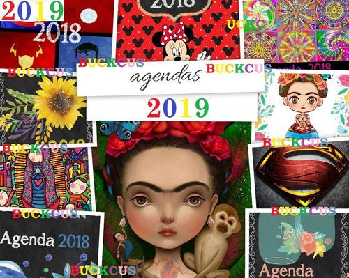 kit imprimible calendario y agendas 2019 editable envio ya