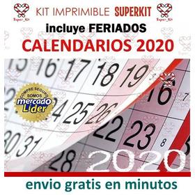 Kit Imprimible Calendarios 2020 + Fondos Hd + Promo 2x1