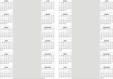 kit imprimible calendarios 2020, nuevo almanaques p armar