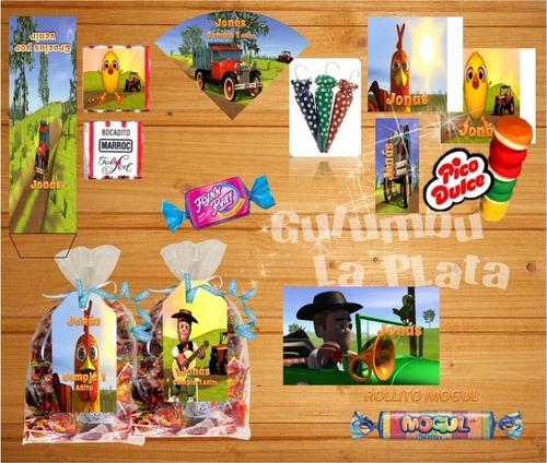 kit imprimible canciones de la granja 3 candy bar zenon
