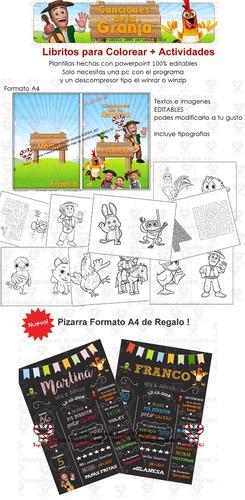 kit imprimible canciones de la granja de zenon 2019 + 2x1