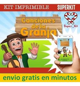 Kit Imprimible Canciones De La Granja De Zenon 2020 2x1