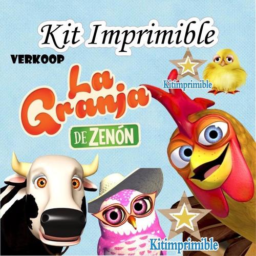 kit imprimible canciones de la granja de zenon + candy bar *