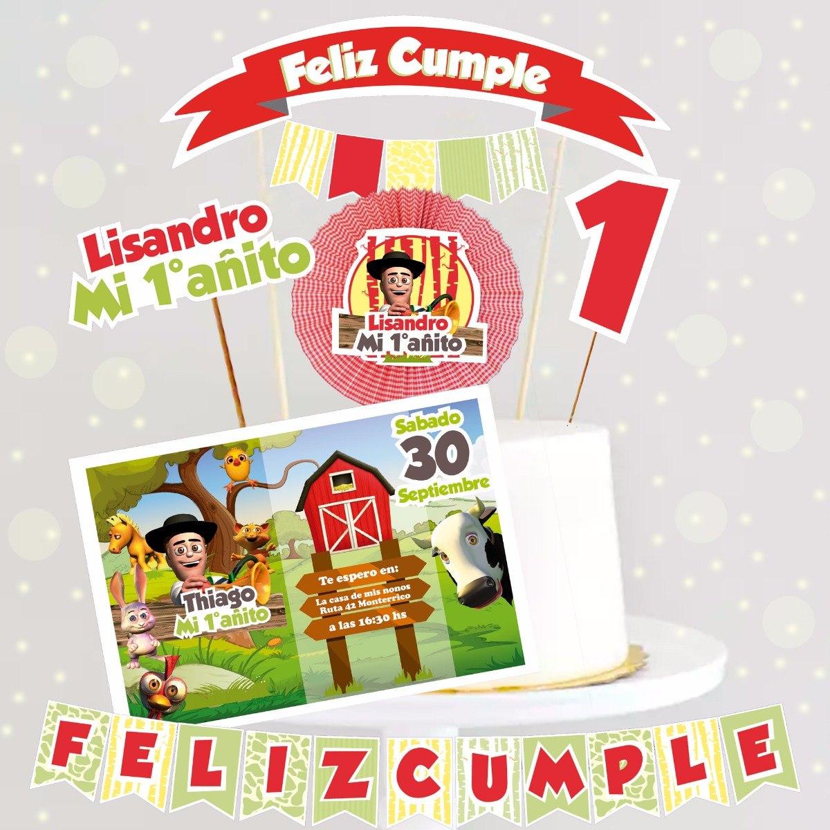 Kit Imprimible Canciones De La Granja De Zenon Rojo 330 00 En