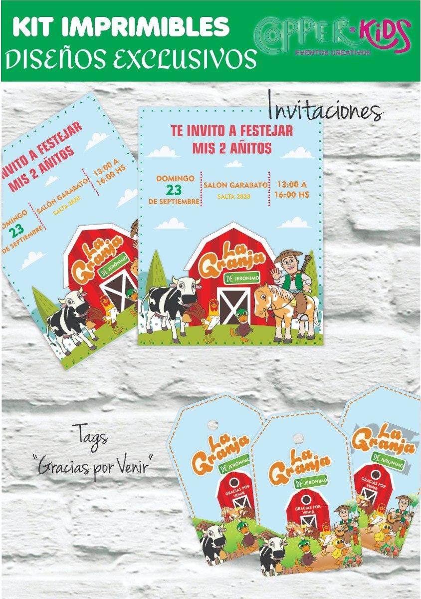 Kit Imprimible Canciones De La Granja Zenon Copperkids